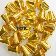 Ponteira para Cordão - 15x6mm - Dourado - 25un
