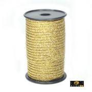 Soutache Metalizado 500/04 - 1,8mm - Dourado - 50 Metros