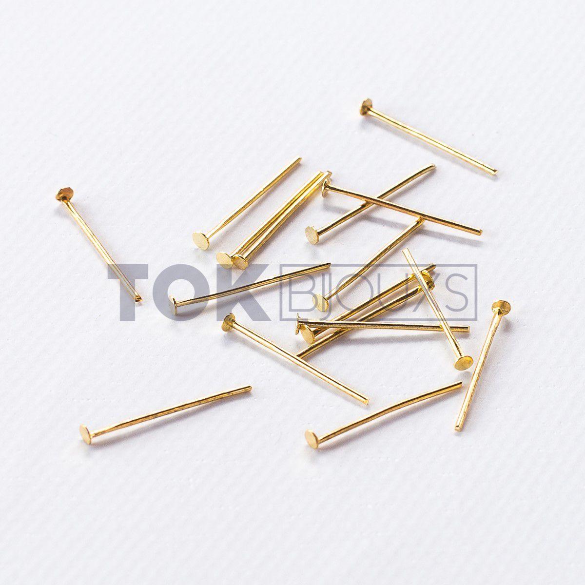 Alfinete 20mm - Dourado - 500g