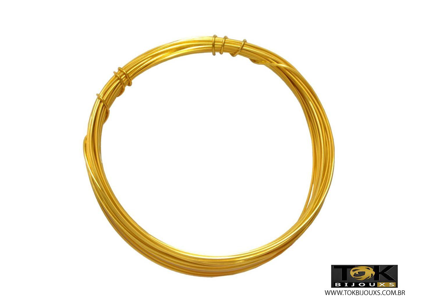 Arame Aluminio Dourado 0,8mm - 1 kg