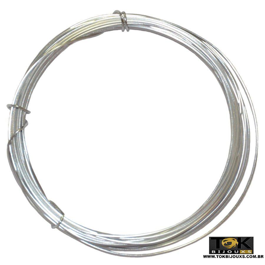 Arame Aluminio Prata 0,8mm - 500g