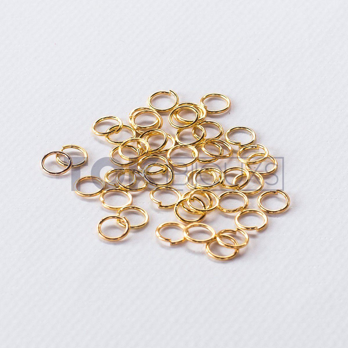 Argola De Ferro 4mm - Dourada - 25g
