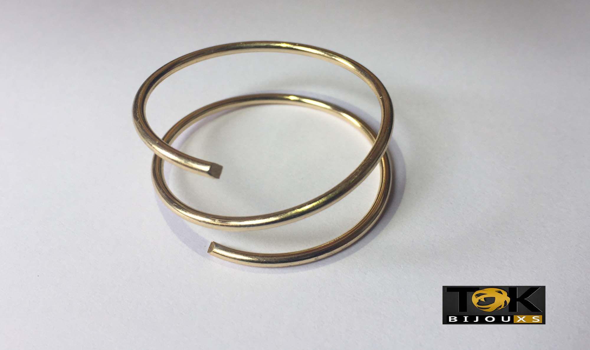 Argolas Porta Guardanapo - Duas Voltas -  Dourado - 1 kg