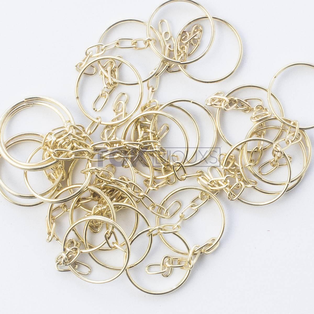 Argola Para Chaveiro - Dourada 21mm - 1000un
