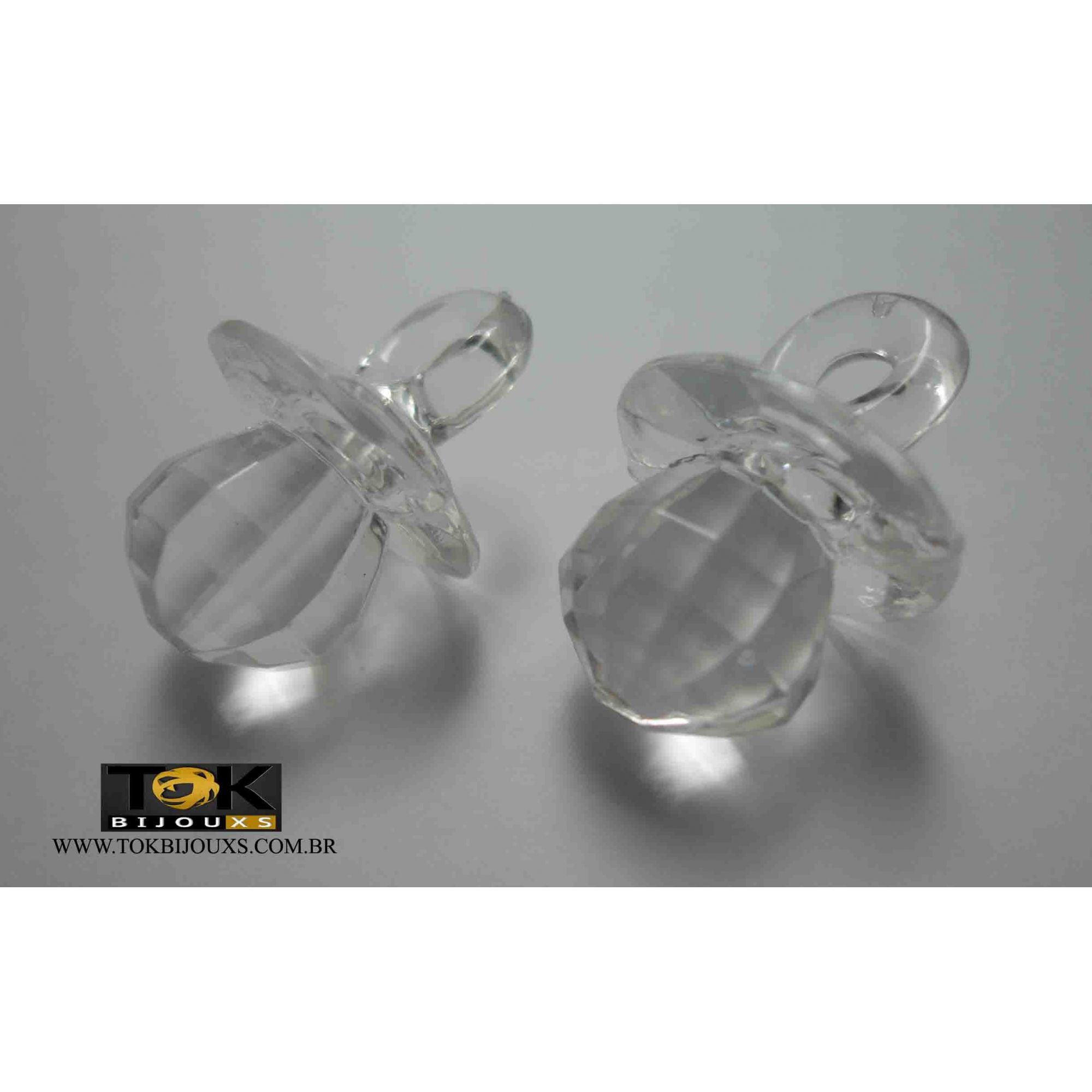 Atacado - Chupeta Acrílica - Transparente - 500g
