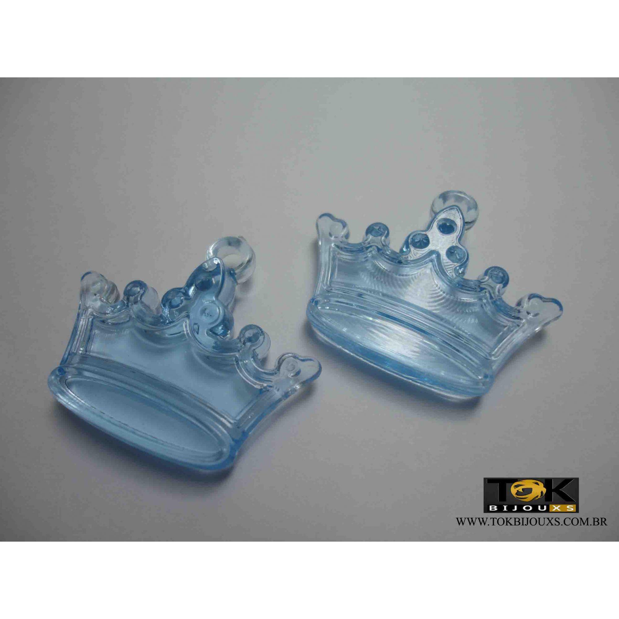 Atacado - Coroa Acrílico - Azul Bebe - 500g
