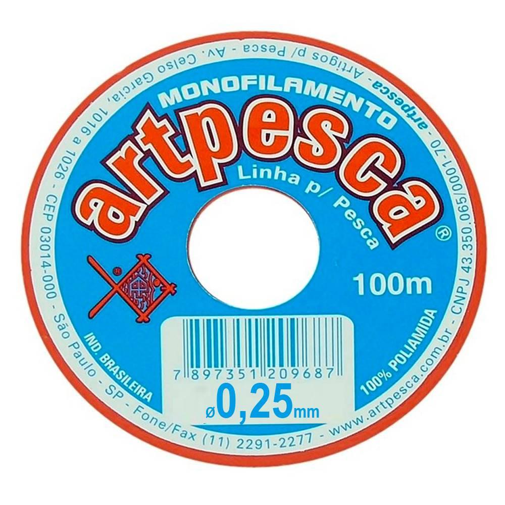 Atacado - Fio De Nylon 0,25 Artpesca® - Caixa C/ 20 Rolos