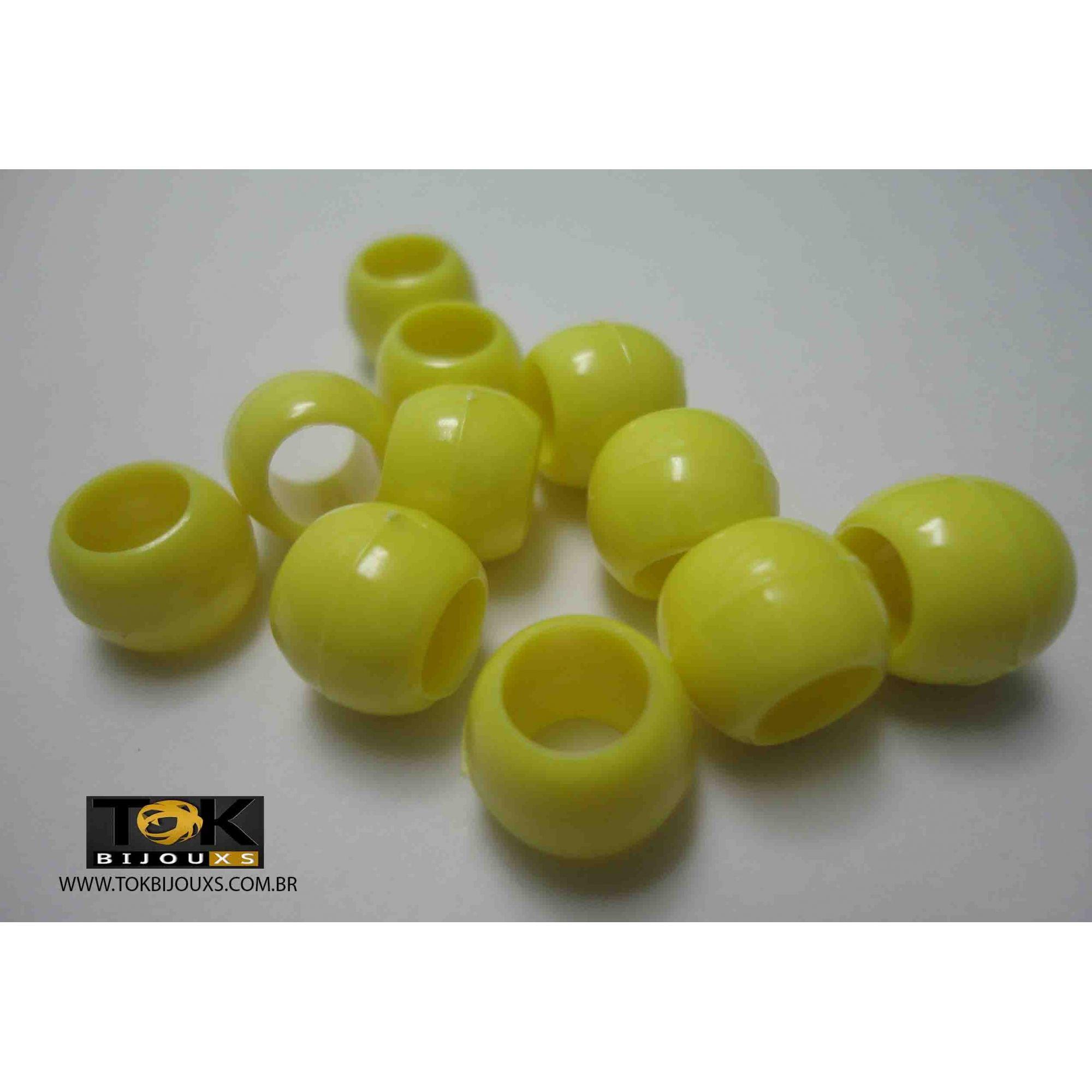 Atacado - Missangão Tererê - Amarelo - 10mm - 500g