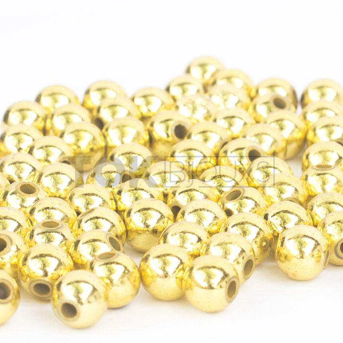 Atacado - Pérola 12mm - Dourado