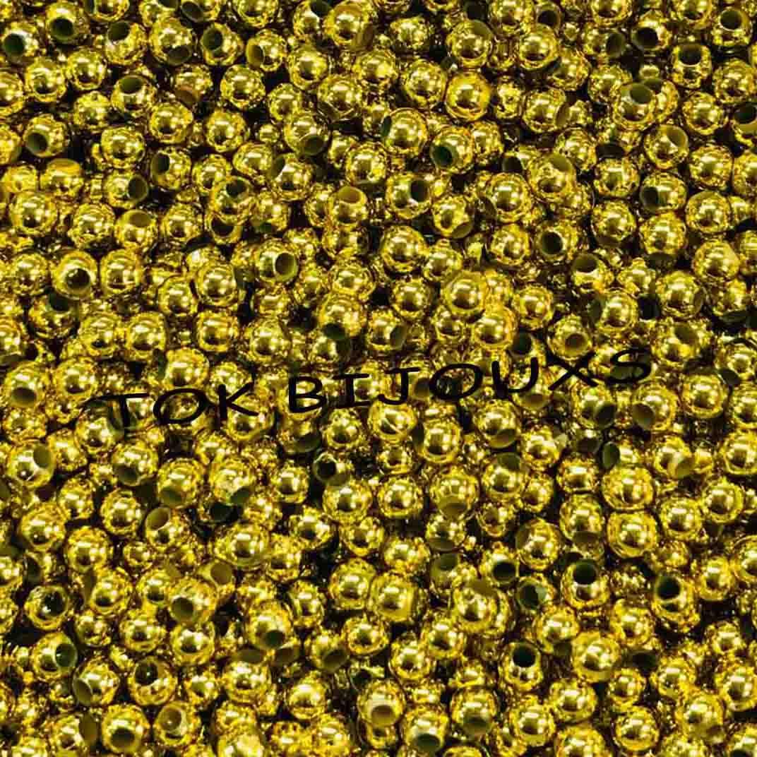 Atacado - Pérola Abs 3mm - Dourada