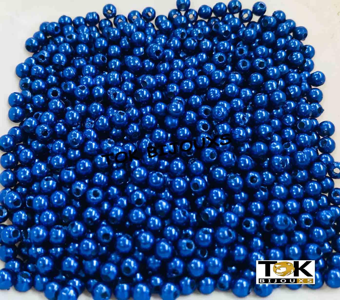 Atacado - Pérola Abs 4mm - Azul Royal