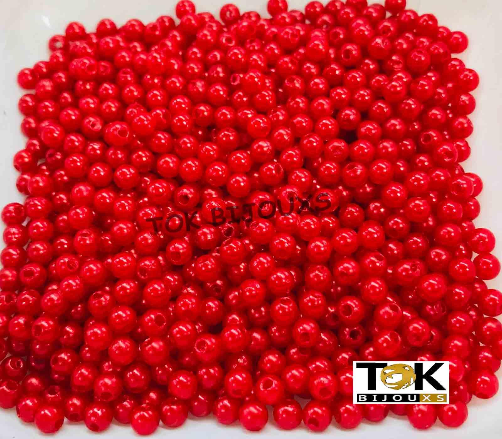 Atacado - Pérola Abs 4mm - Vermelho