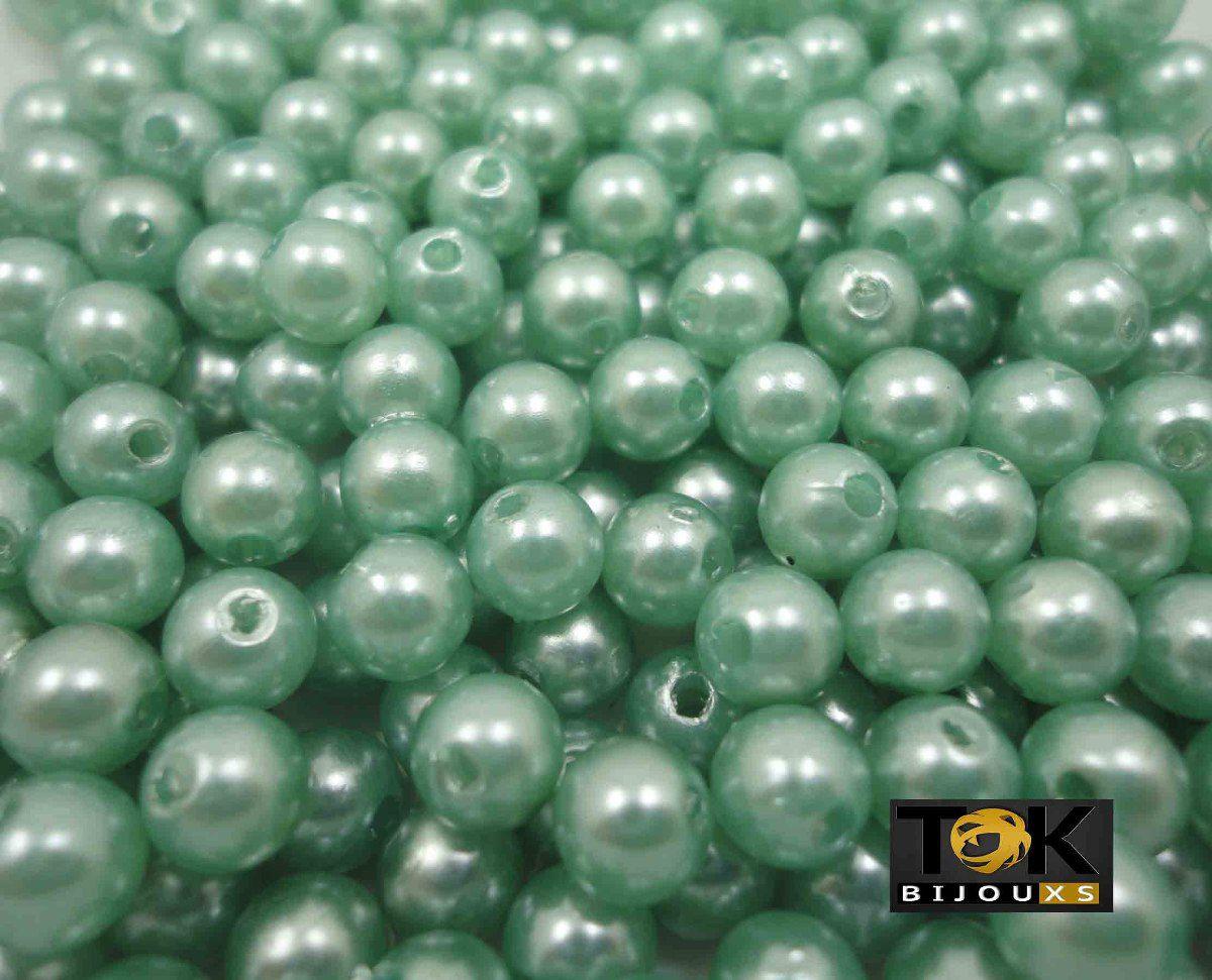 Atacado - Pérola Abs 6mm - Verde Bandeira - 500g