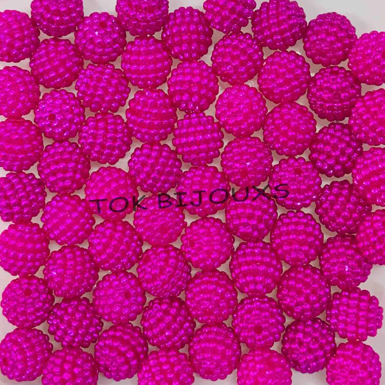 Atacado - Pérola Amora / Craquelada Abs 10mm - Pink - 250g