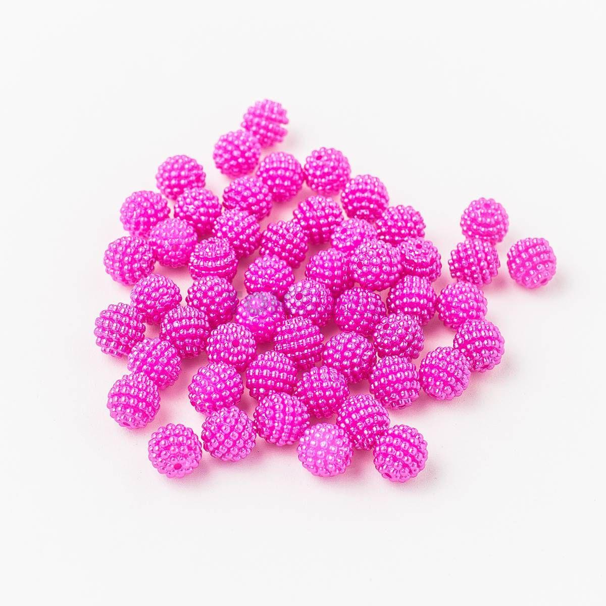 Atacado - Pérola Amora / Craquelada Abs 10mm - Pink - 500g