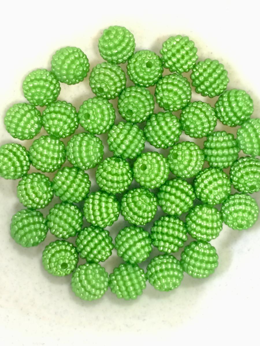 Atacado - Pérola Amora Craquelada Abs 10mm - Verde Claro - 250g