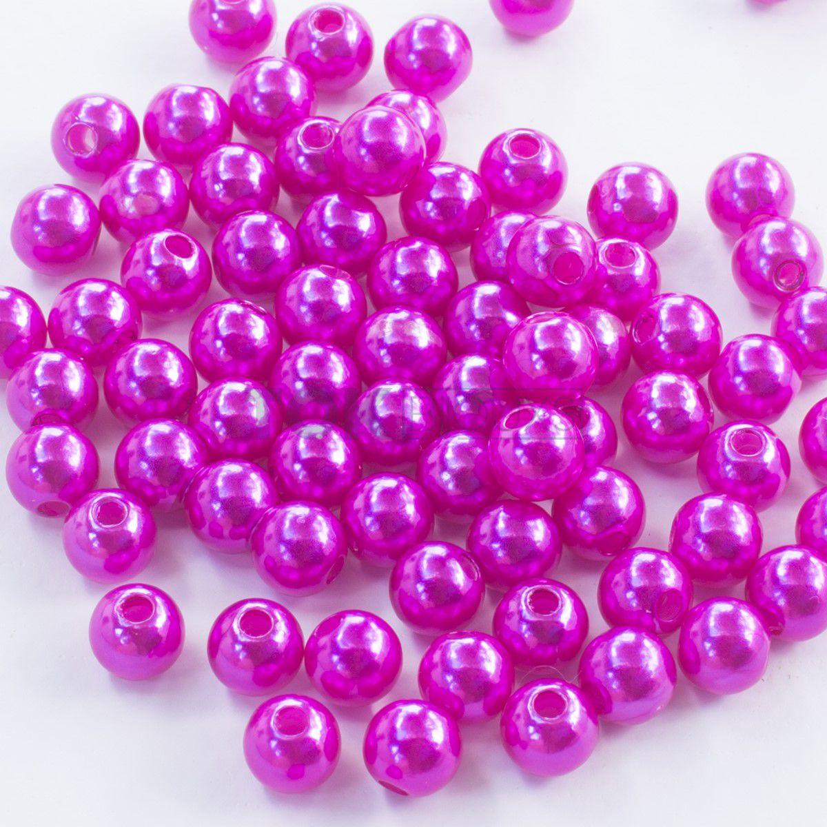 Pérola Redonda Abs 4mm - Pink - 250g