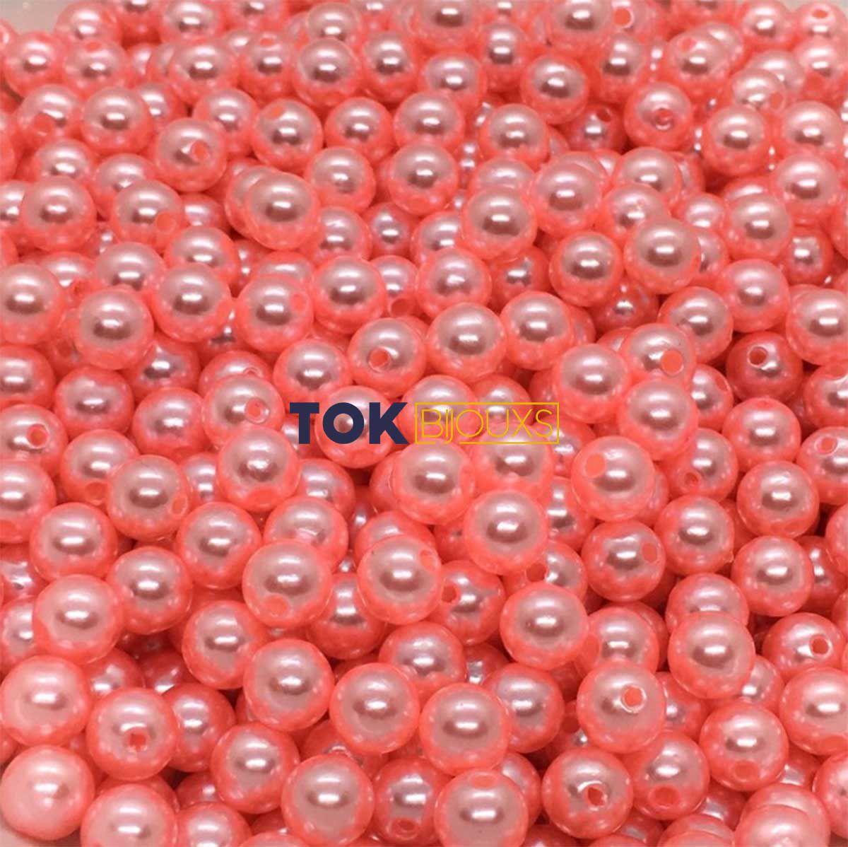 Atacado - Pérola Redonda 8mm - Rosa Chiclete - 500g