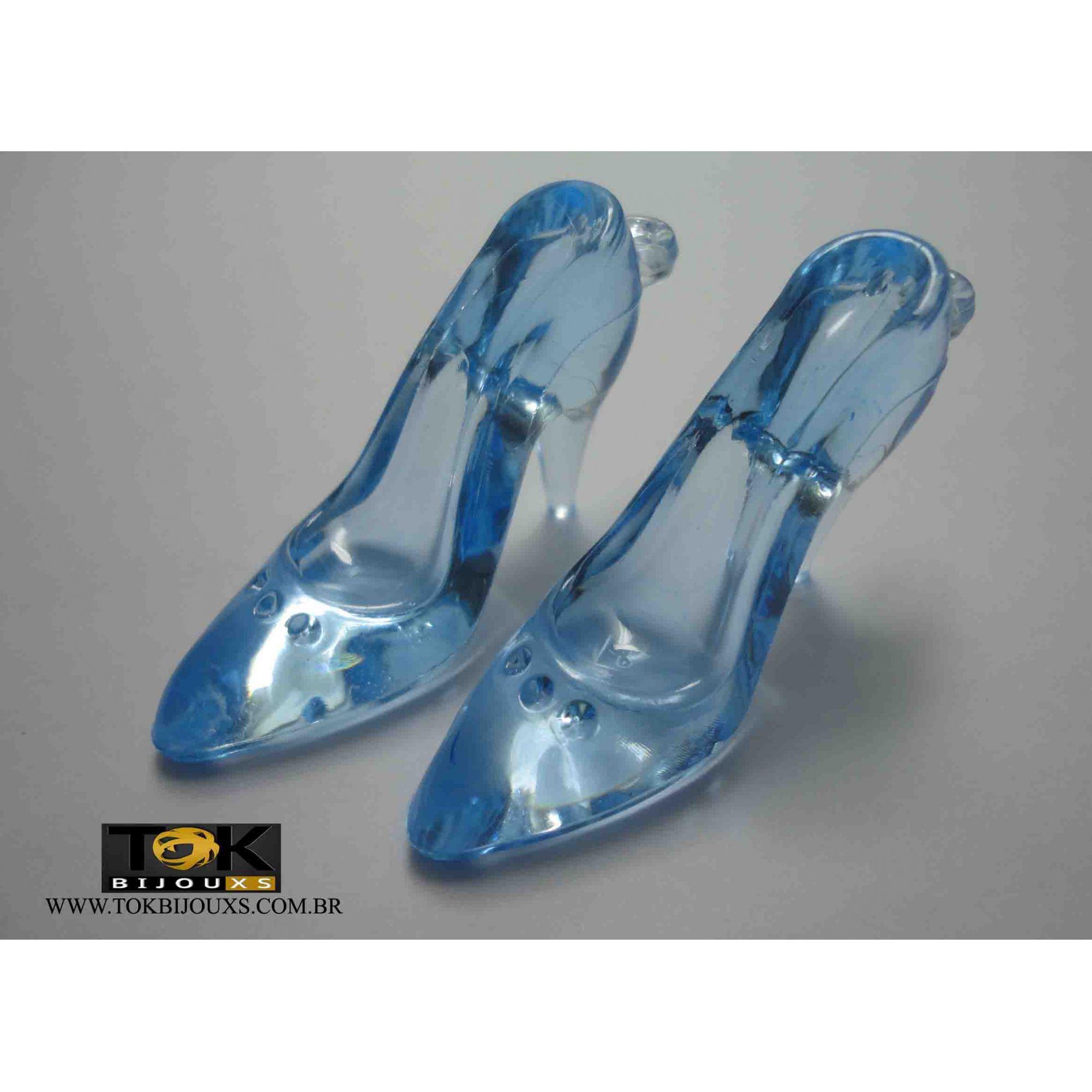 Atacado - Sapato Acrílico Grande - Azul Bebe - 500g
