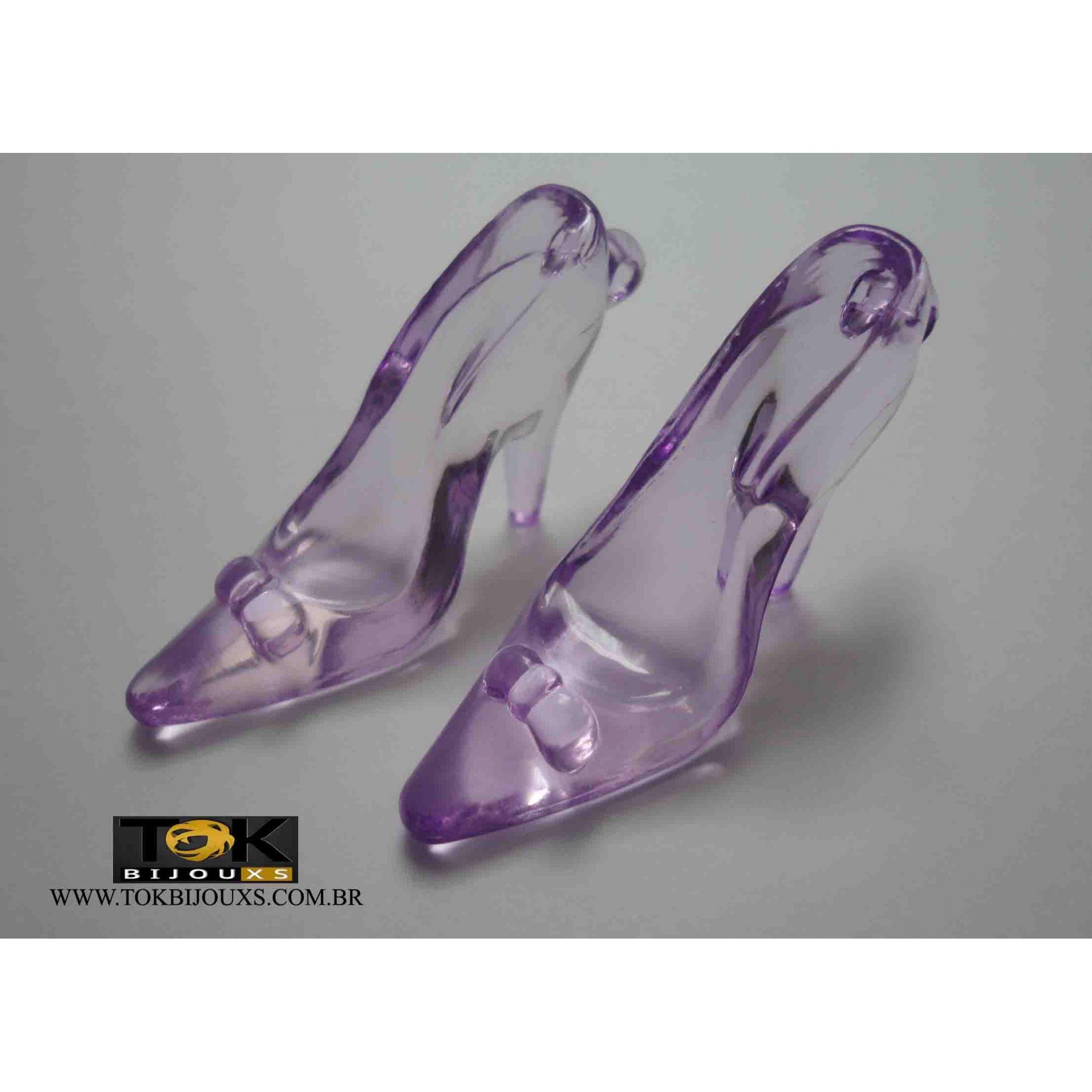 Atacado - Sapato Acrílico Grande - Lilás - 500g