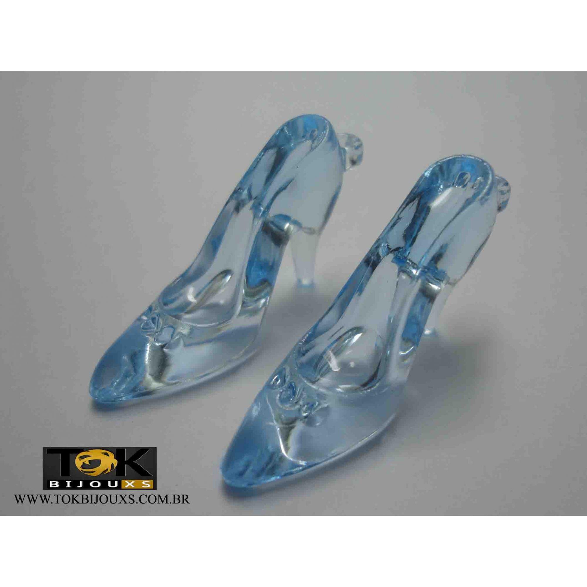 Atacado - Sapato Acrílico Pequeno - Azul Bebe - 500g
