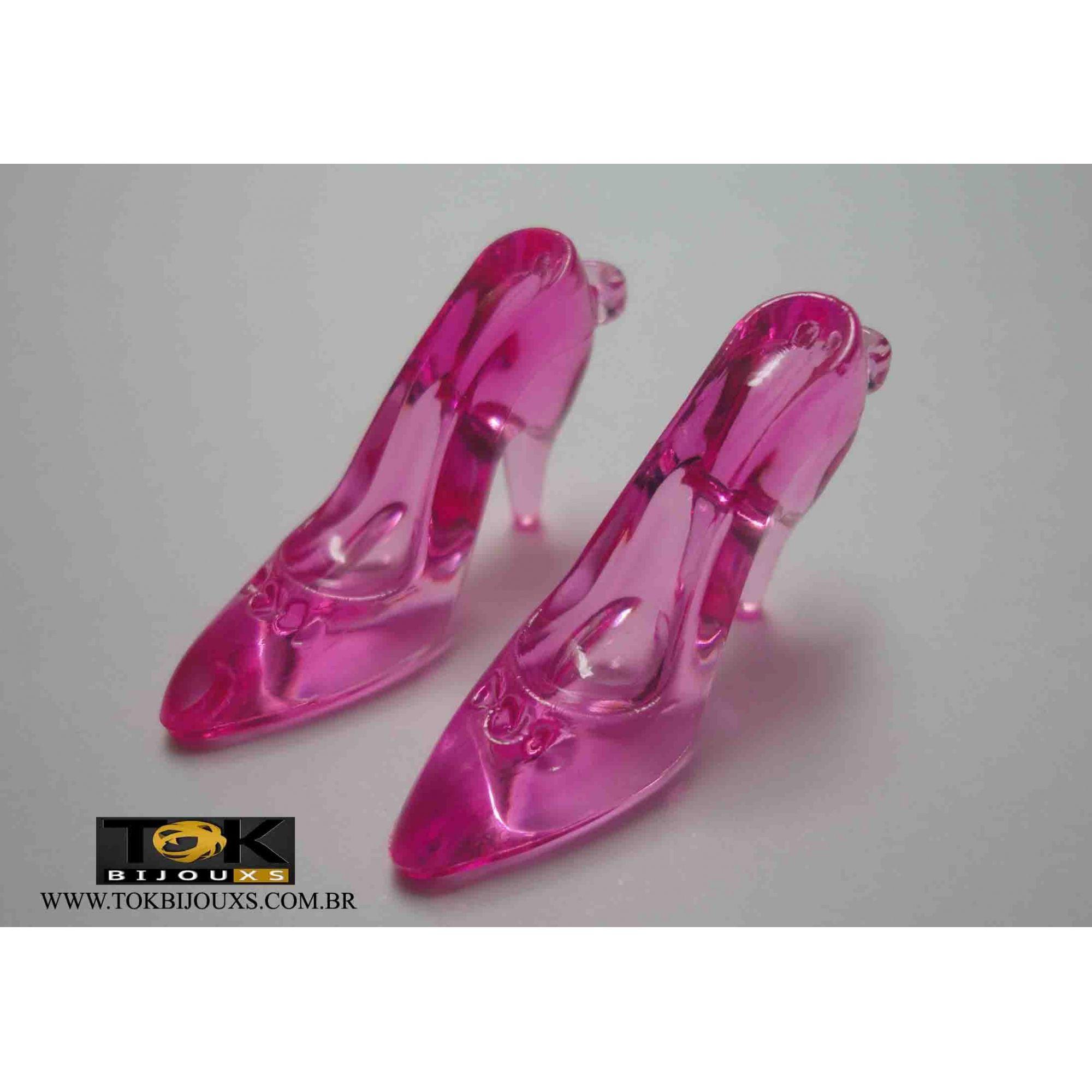 Atacado - Sapato Acrílico Pequeno - Pink - 500g