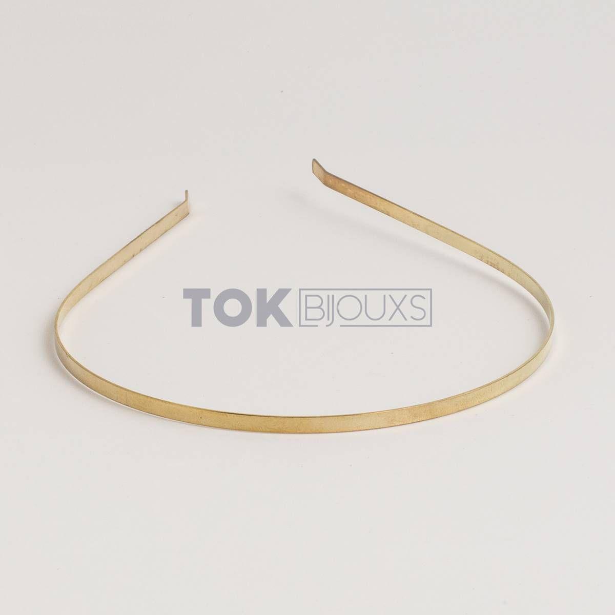Atacado - Tiaras Metal - 3/4mm - Dourado - 100  Unid