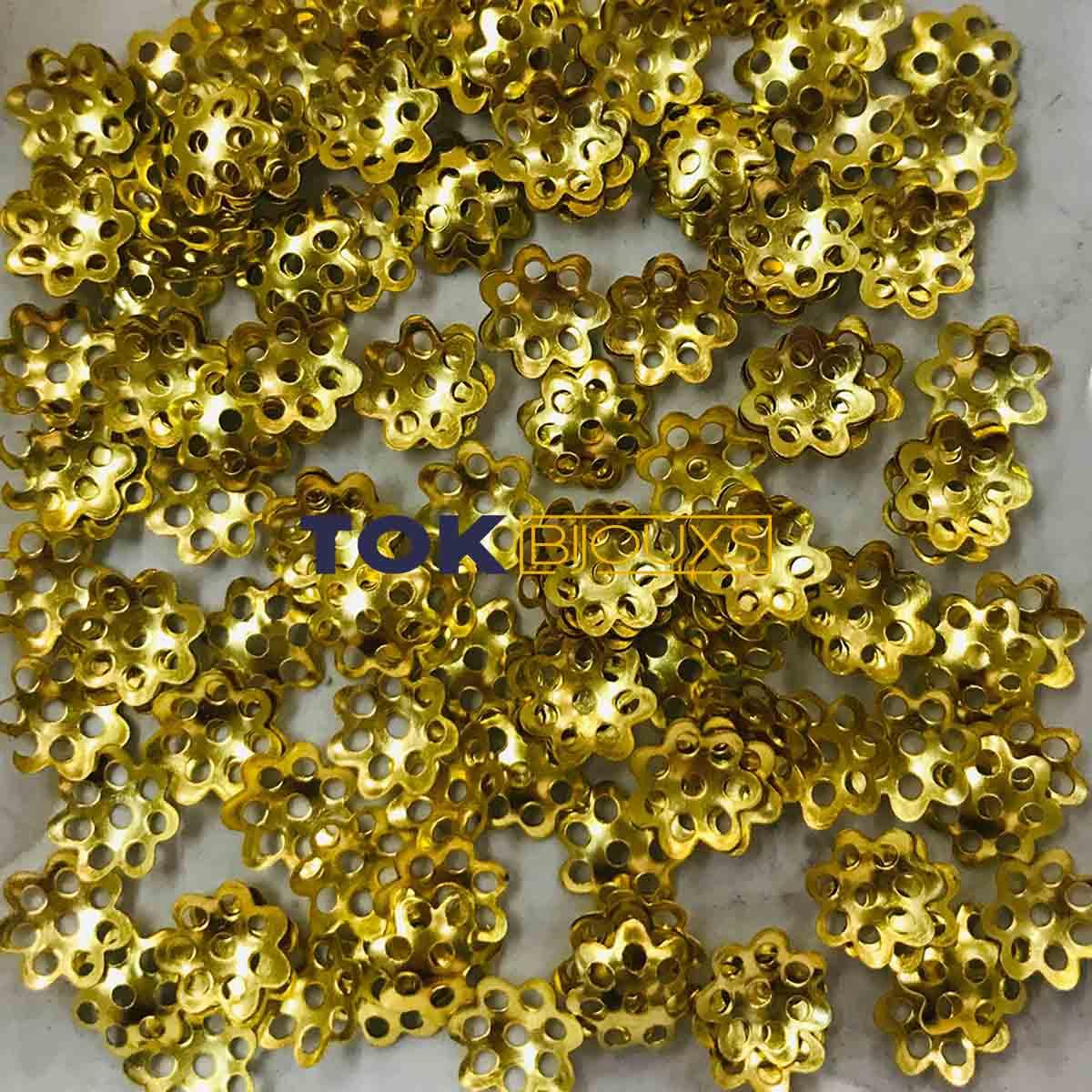Atacado - Tulipas Flor - Dourado - 6mm - 1000Un