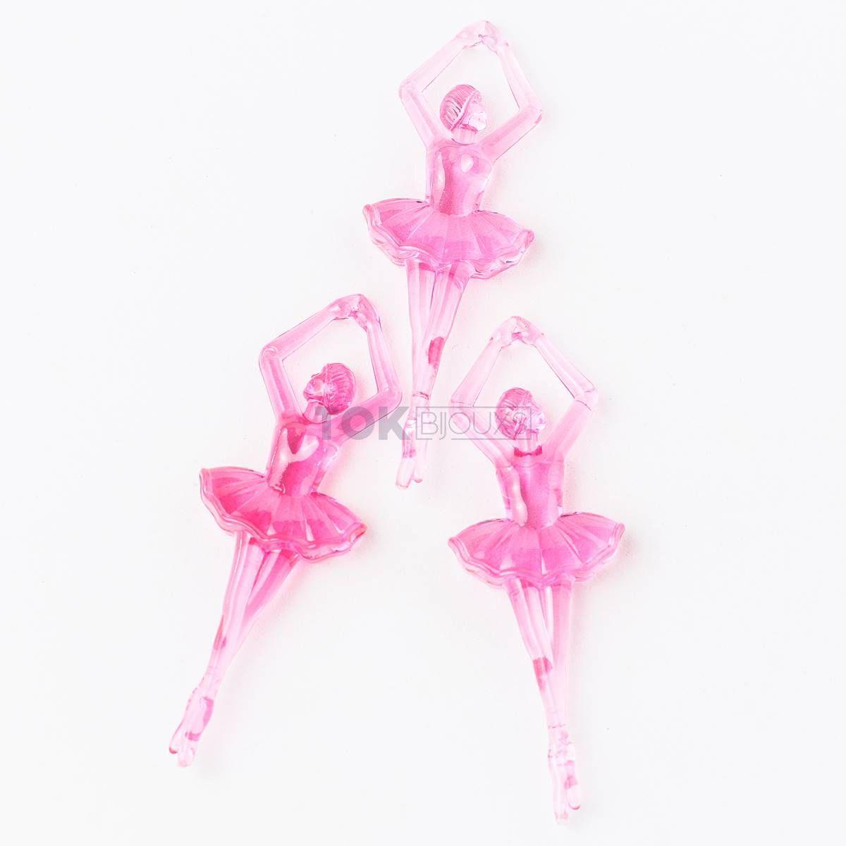 Bailarina Acrilico - Pink - Unidade