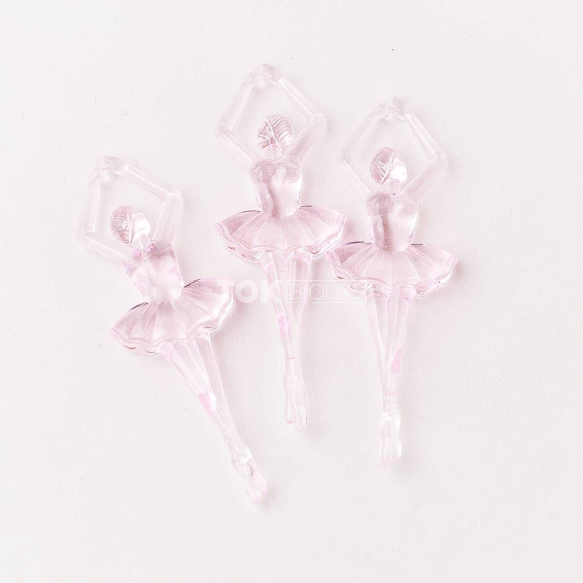 Bailarina Acrilico - Rosa Bebe - Unidade