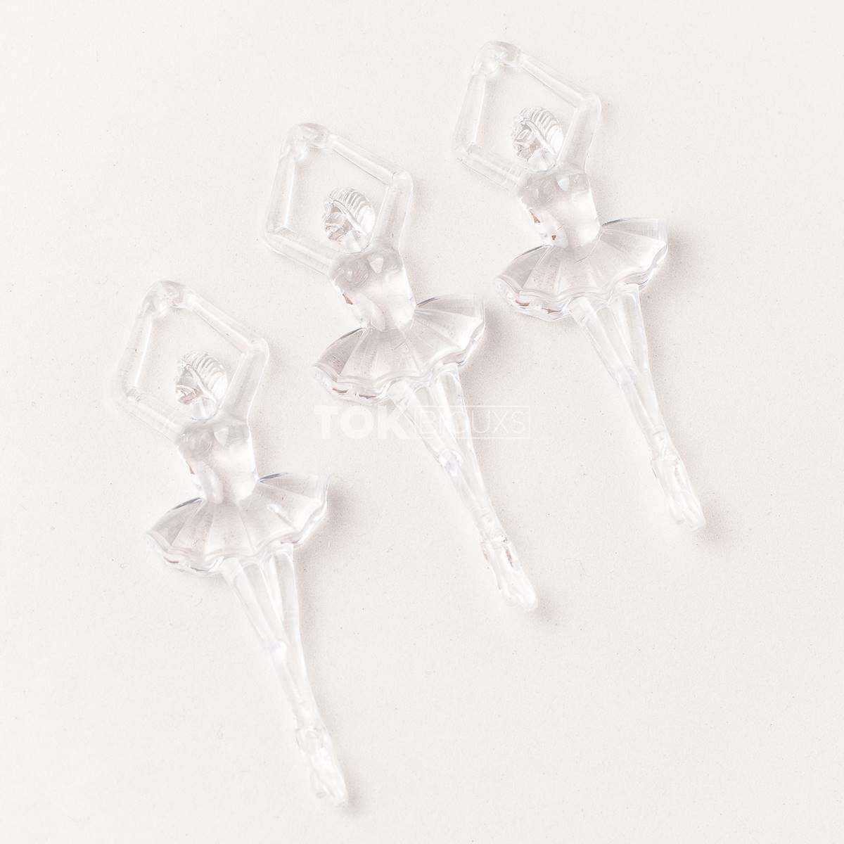 Bailarina Acrilico - Transparente - Unidade