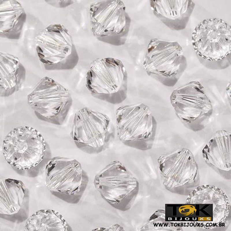 Balão Swarovki / Preciosa - 4mm - Cristal Transparente - 20 Unid