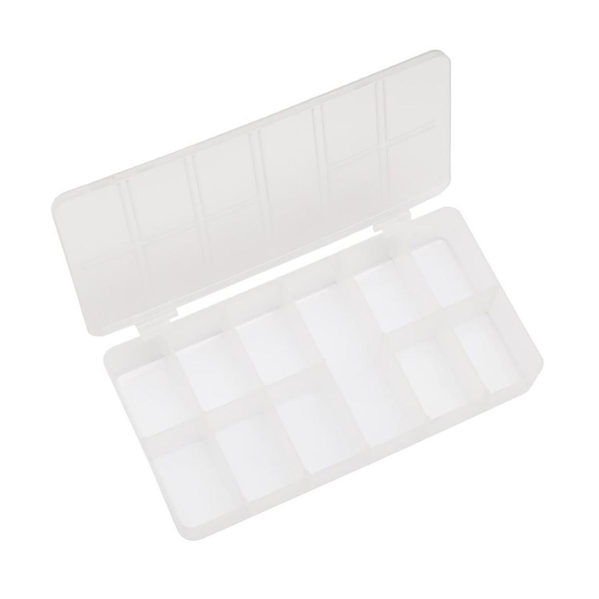 Caixa Organizadora Acrílico Retangular - 11 Divisórias - Transparente