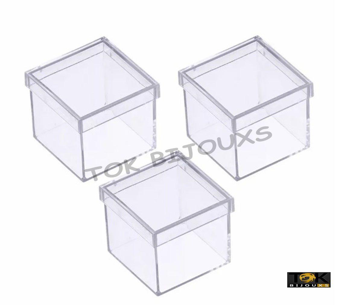Caixinha Acrílico Transparente 4X4 - 10  Unidades