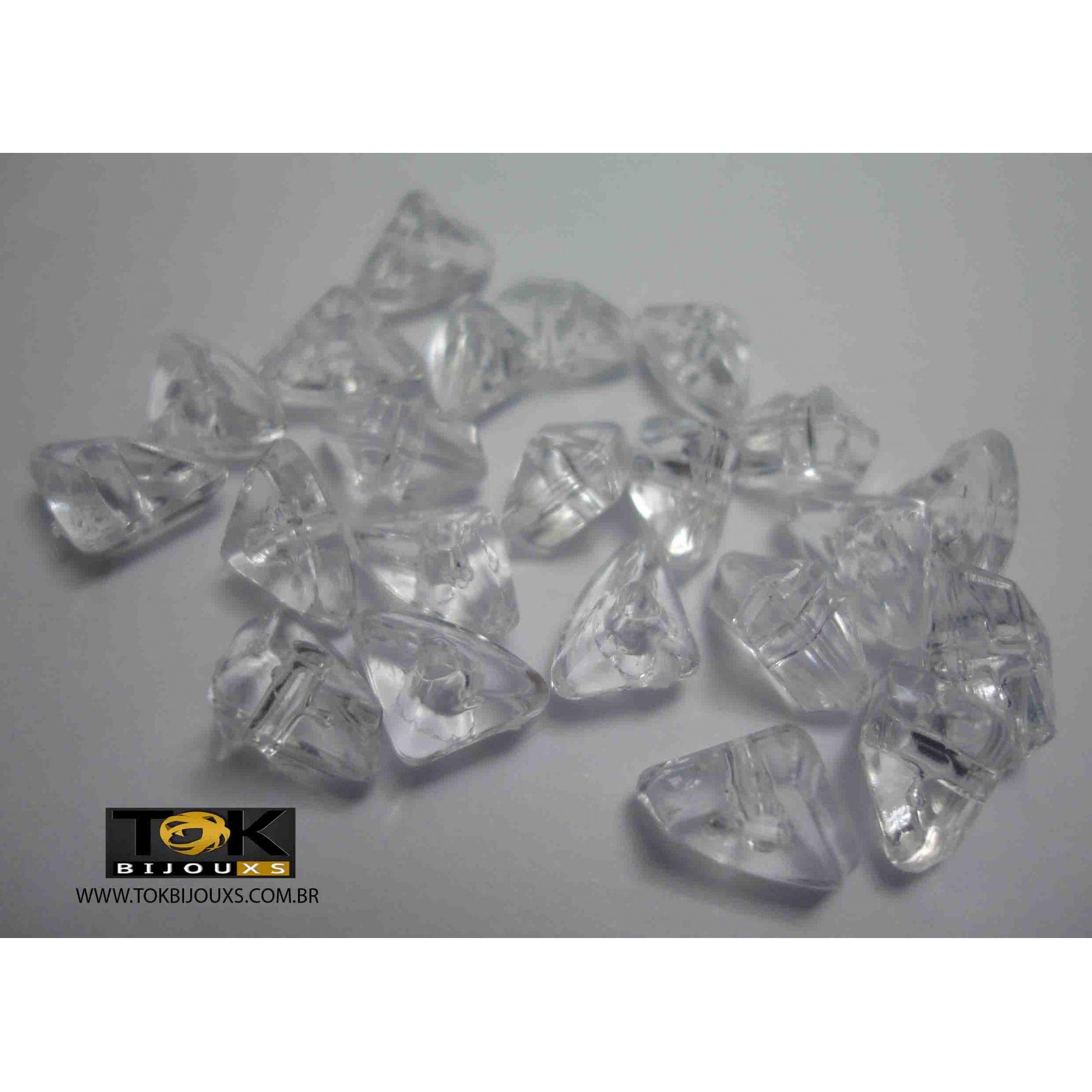 Cascalho Acrilico - Transparente - 10X6mm - 25g