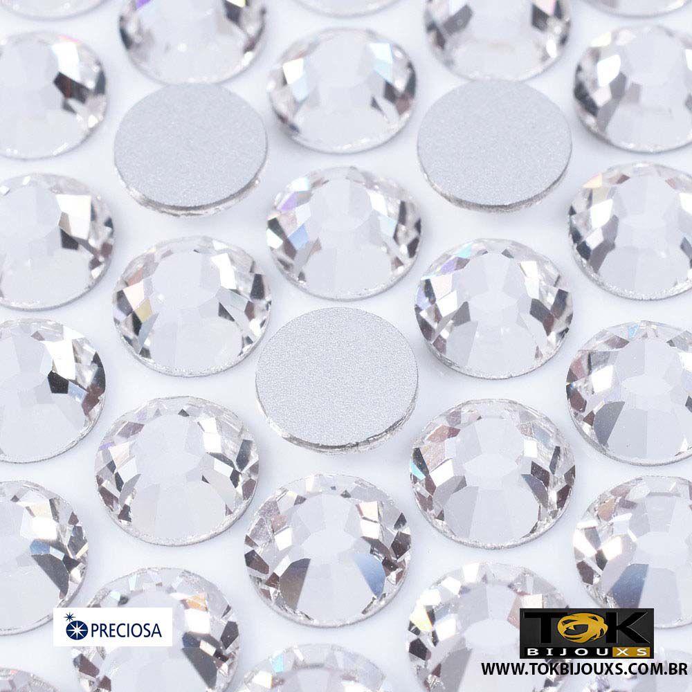 Chaton Strass Base Reta Preciosa® - Sem Cola - Cristal - SS30 (6,5mm) - 288Un
