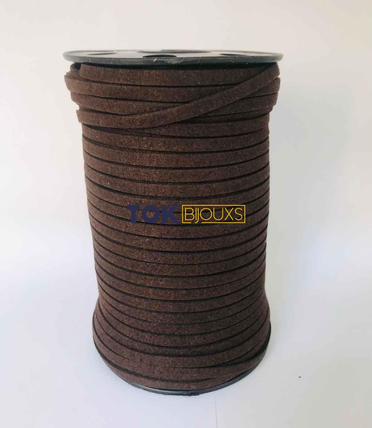 Cordão Camurça - 5mm - Marrom Escuro - 1 Metro