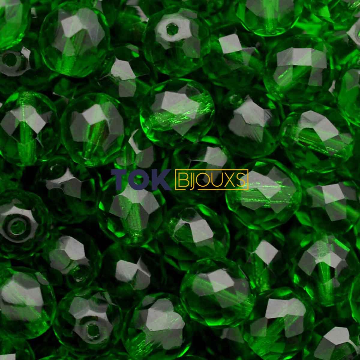 Cristal Jablonex / Preciosa ® 8mm - Verde Bandeira Transparente - Unidade