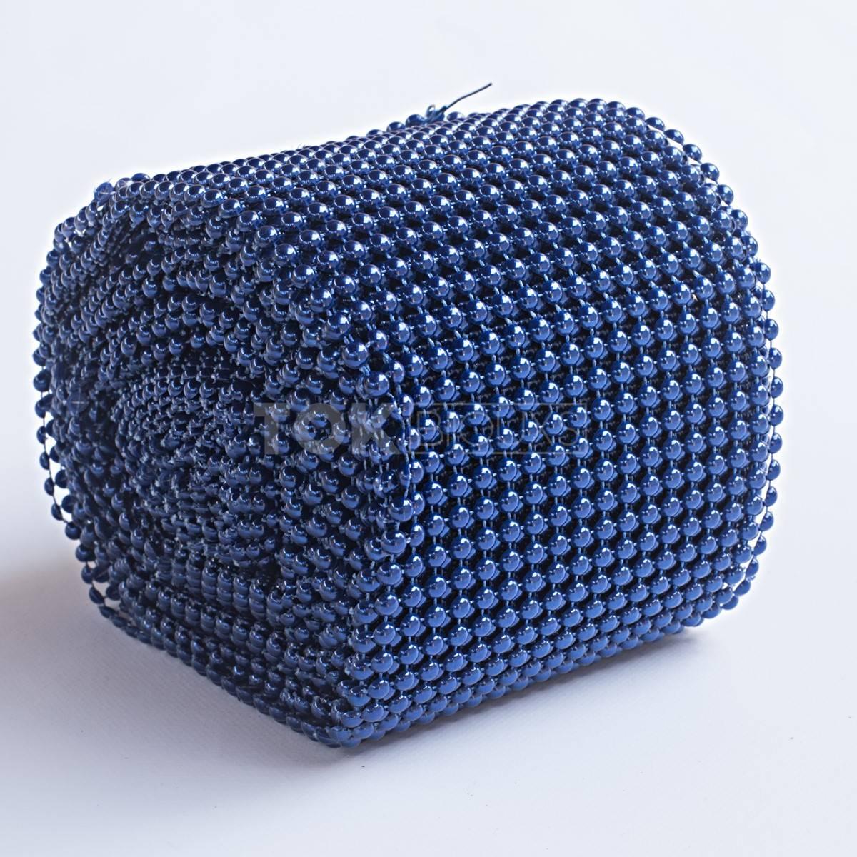 Manta Meia Pérola Abs - 8mm - Azul Royal - 1 Metro