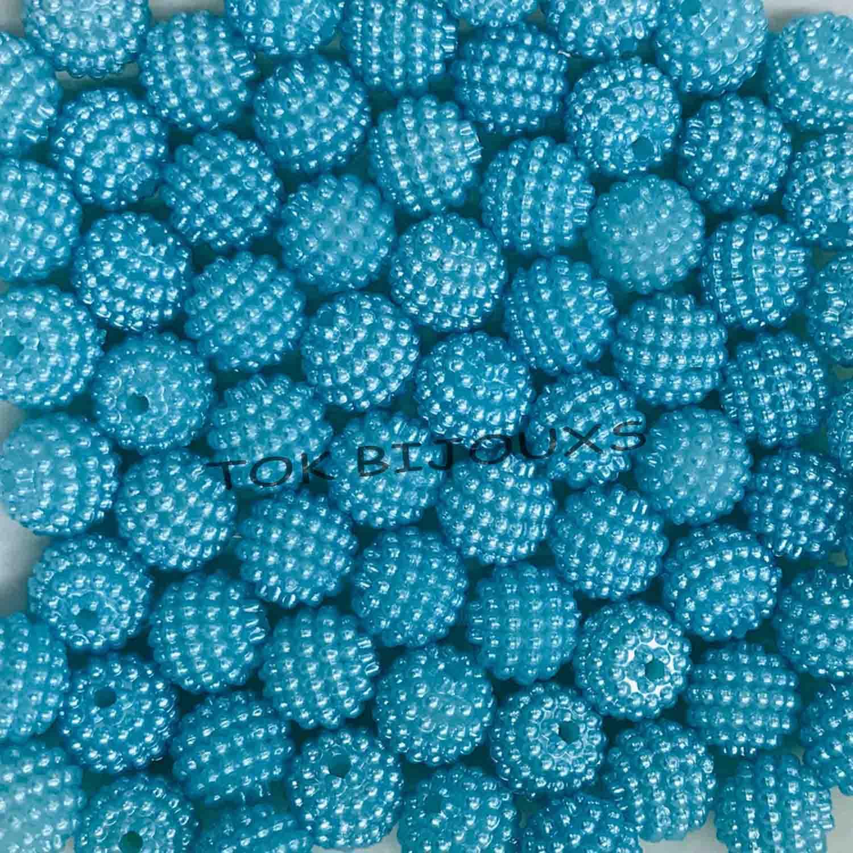 Pérola Amora / Craquelada Abs 10mm - Azul Turquesa - 25g