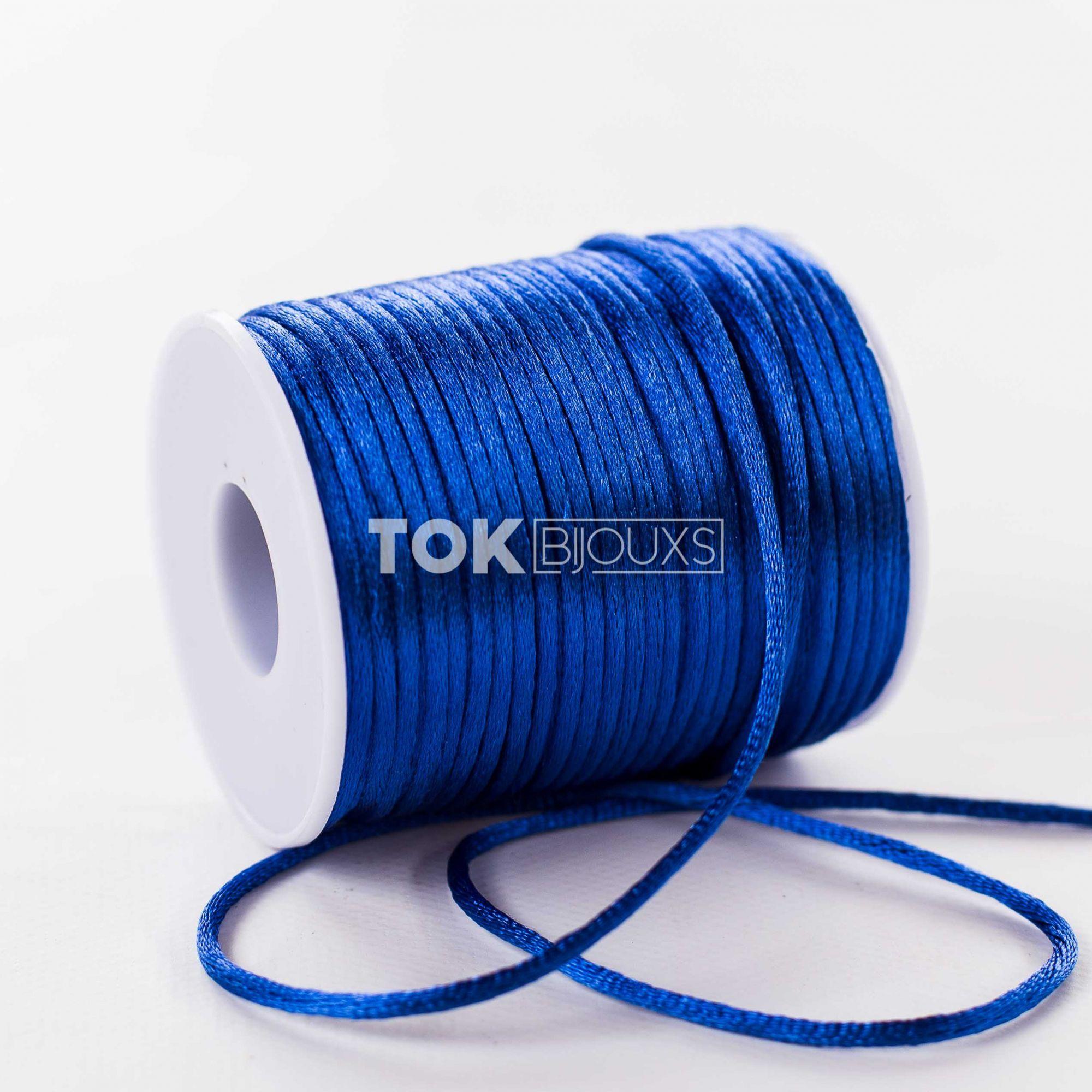 Cordão Cetim 2mm - 50 Metros - Azul Royal