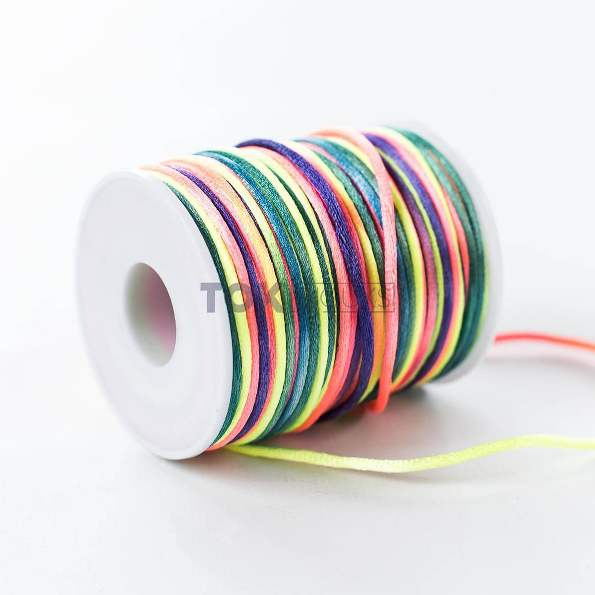 Cordão Cetim 2mm - 50 Metros - Colorido