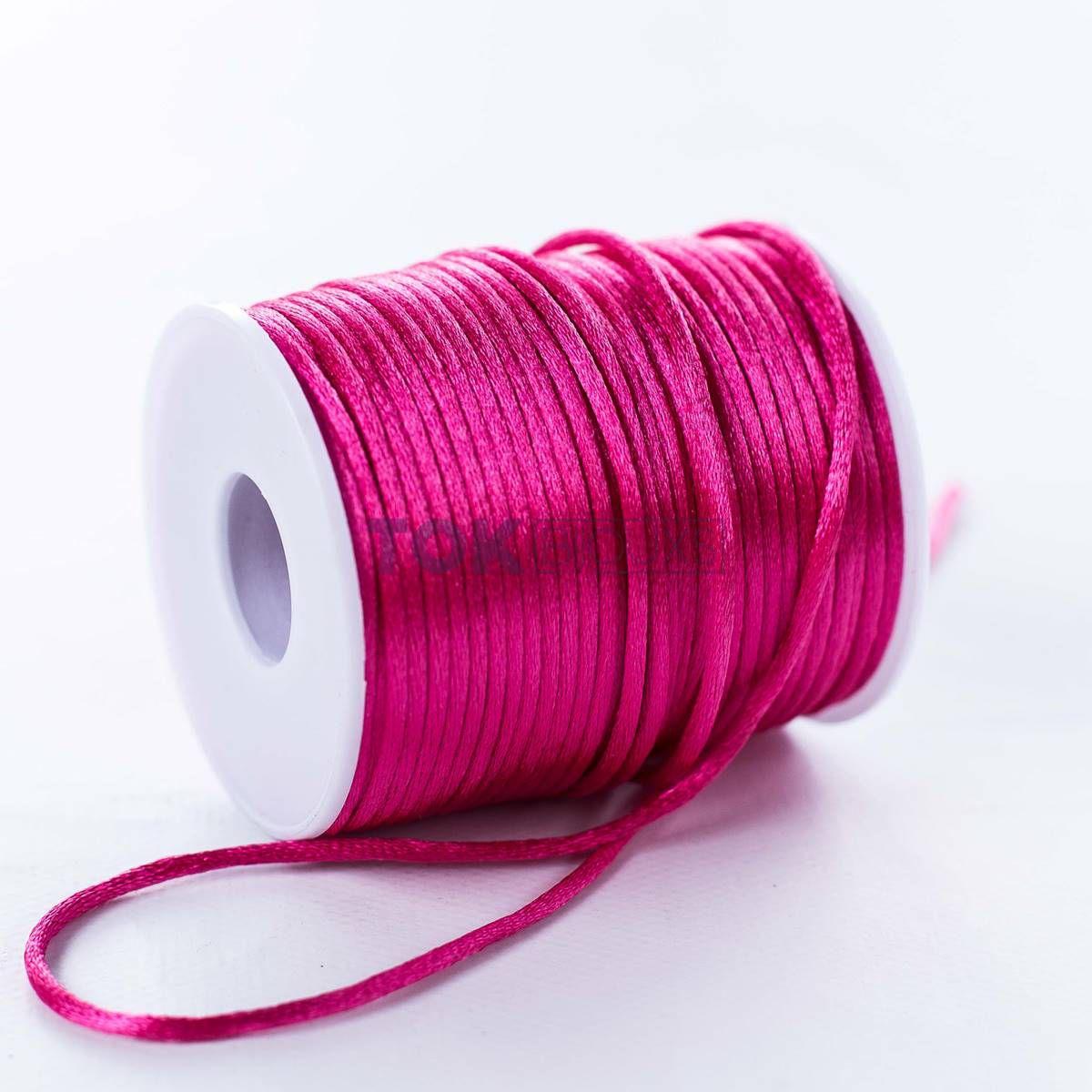 Cordão Cetim 2mm - 50 Metros - Pink
