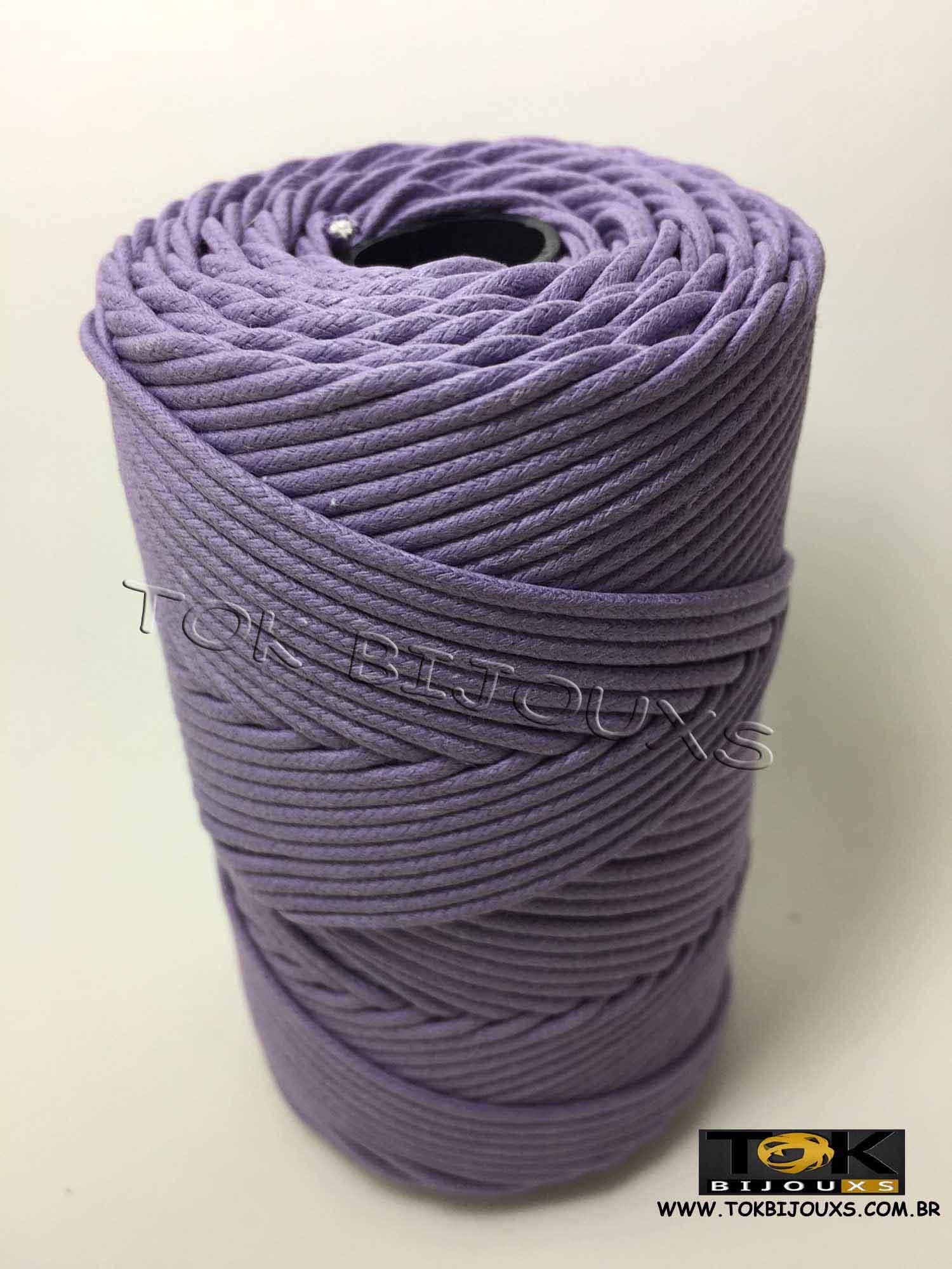 Cordão Encerado Algodão - 1,5mm - Lilás