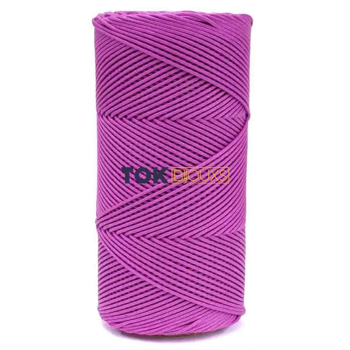Cordão Encerado Algodão - 1,5mm - Pink - 100 Metros