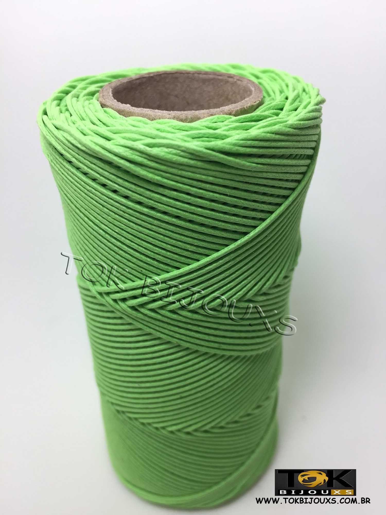 Cordão Encerado Algodão - 1,5mm - Verde Pistache
