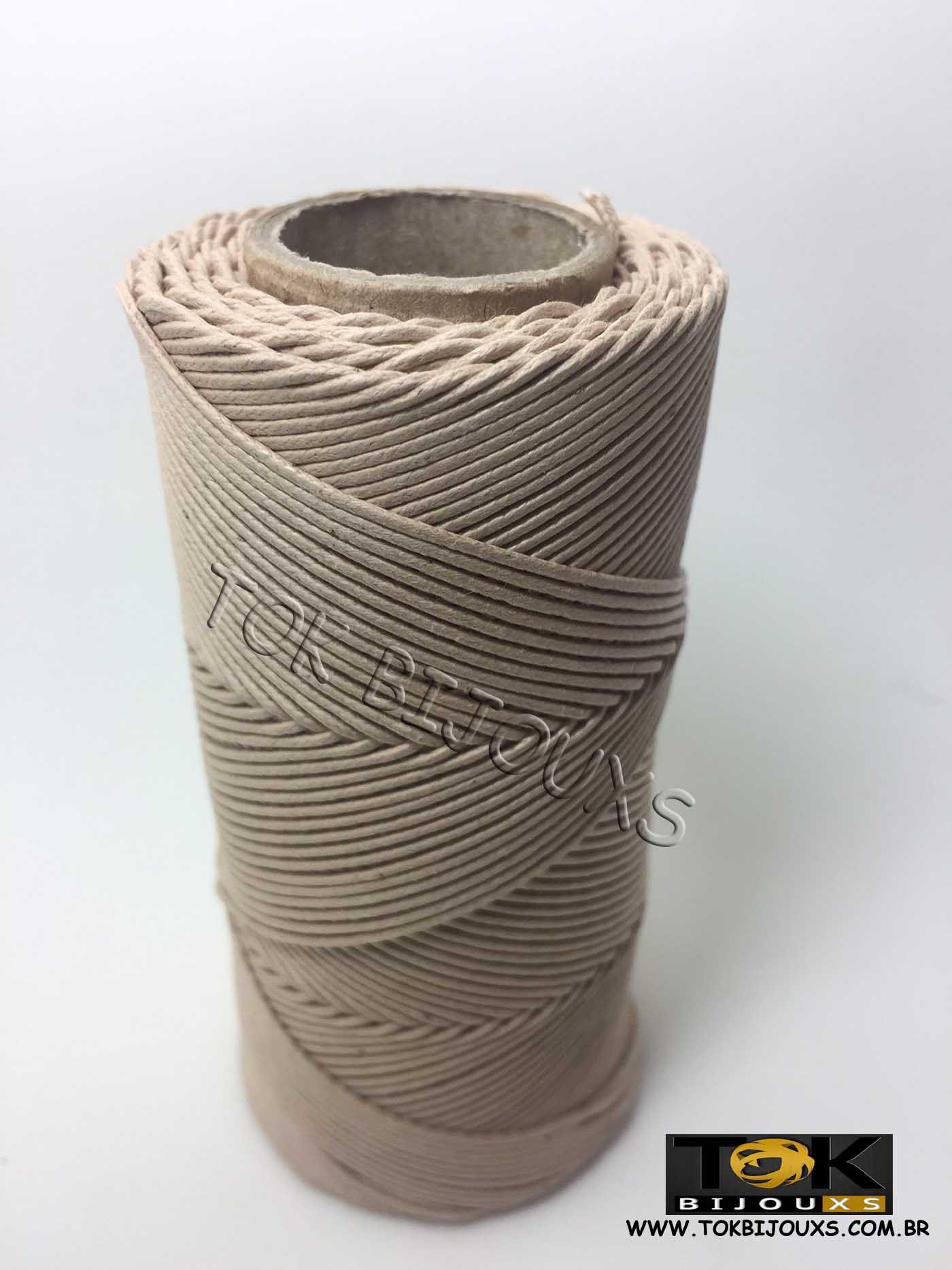 Cordão Encerado Algodão - 1mm - Mel