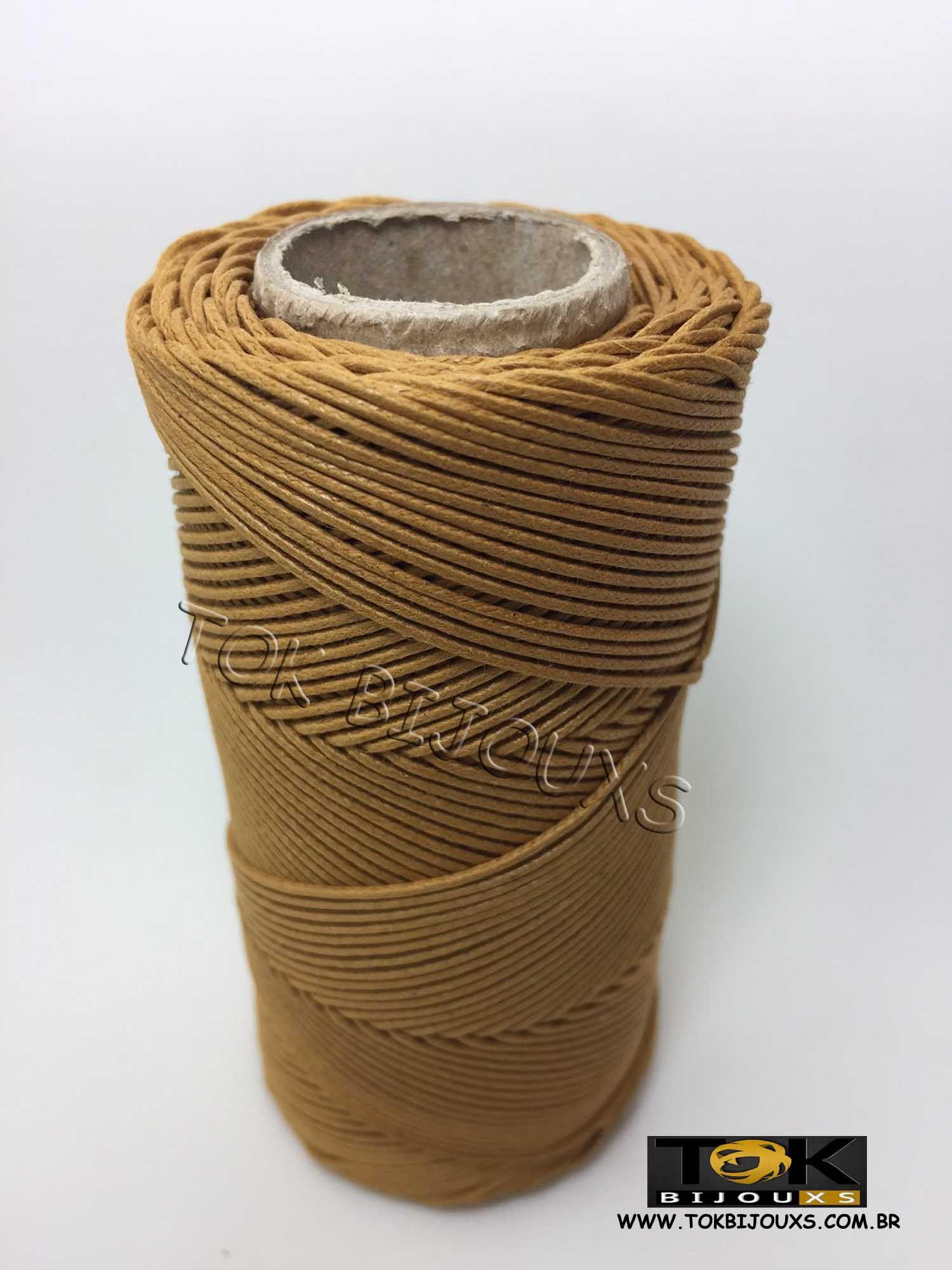 Cordão Encerado Algodão - 1mm - Mostarda