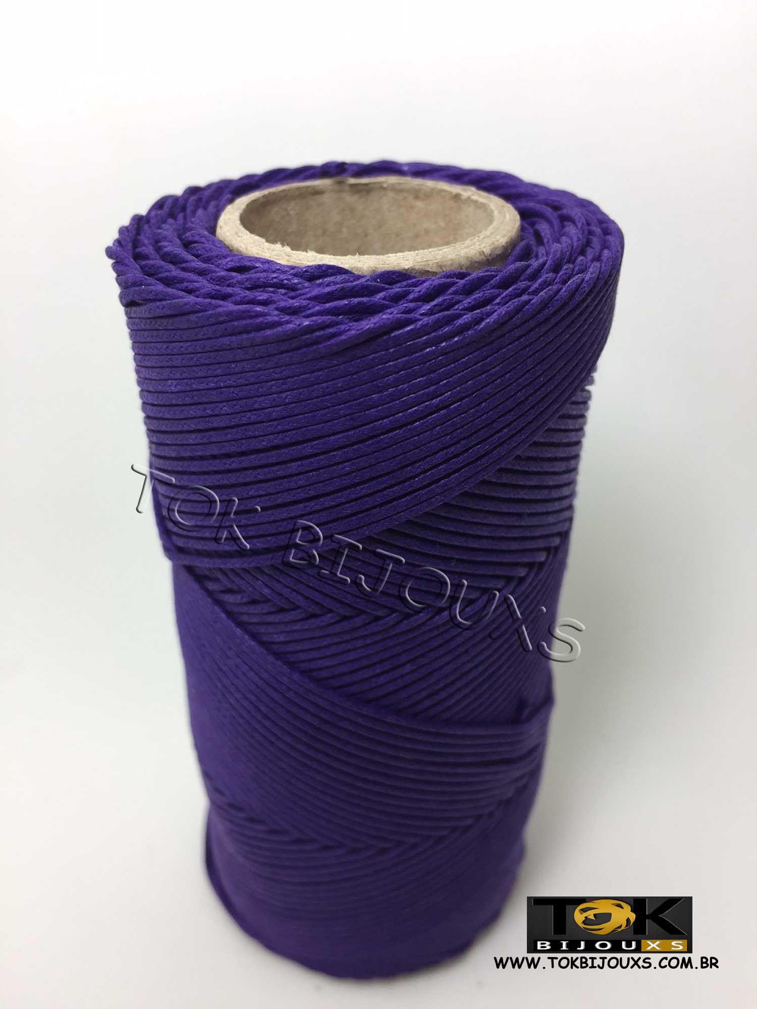 Cordão Encerado Algodão - 1mm - Roxo