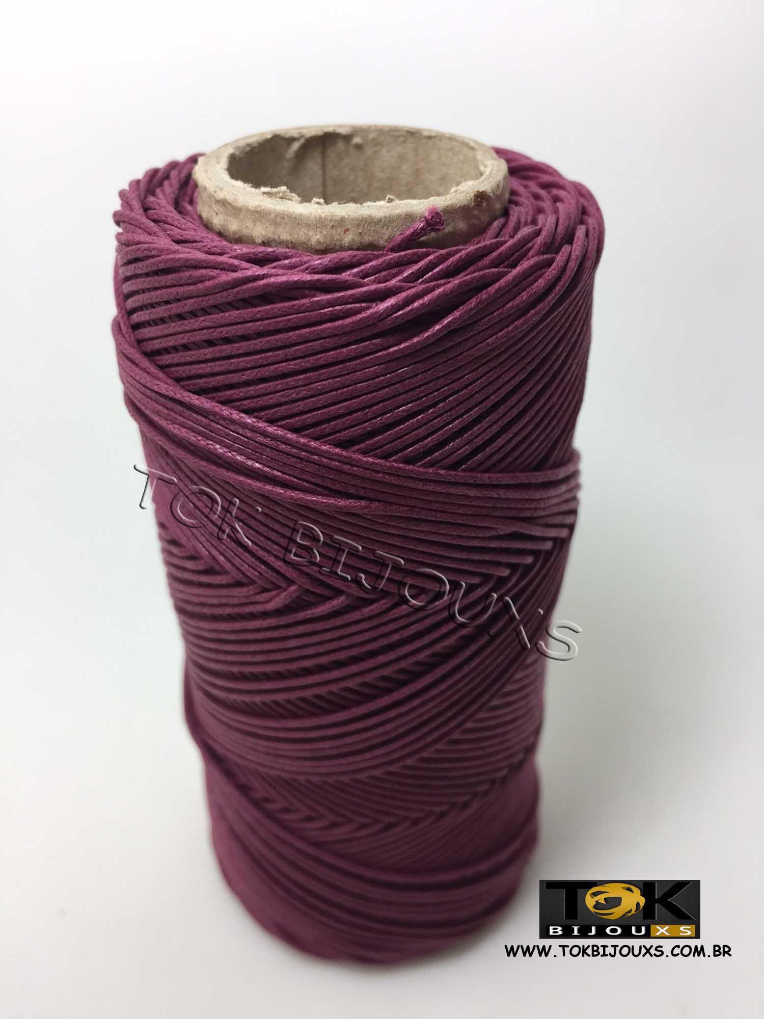 Cordão Encerado Algodão - 1mm - Vinho